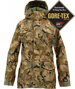 Burton Skylar Gore-Tex Snowboard Jacket Olive Painted Camo
