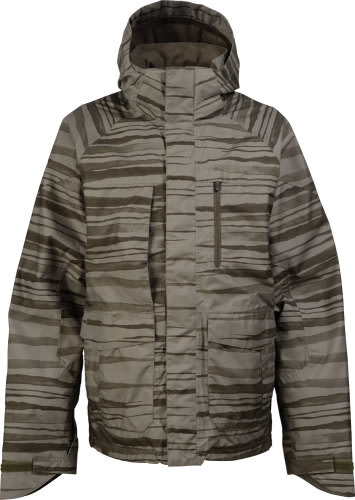 Burton Slub Snowboard Jacket Trnch Green Seepage