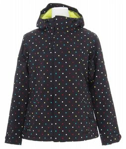 Burton Society Jacket True Black Polka Sqrs Print