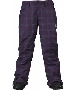 Burton Society Snowboard Pants Mulberry Line Plaid