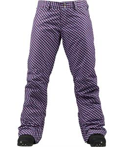 Burton Society Snowboard Pants Tart Check A Dot Print