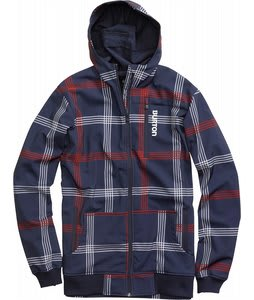 Burton Softshell Hoodie Snowboard Jacket Ballpoint Prospect Plaid