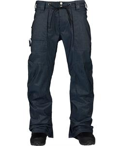 Burton Southside Mid Fit Snowboard Pants Indigo Denim