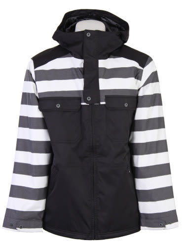 Burton Southsider Snowboard Jacket Blotto Grey Jailhouse Stp Prt