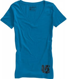 Burton Spill V Neck T-Shirt Heather Blue-Ray