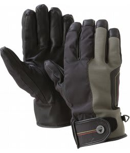 Burton Staple Leather Pipe Gloves Trench Green