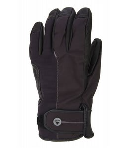 Burton Staple Leather Pipe Gloves True Black