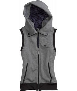 Burton Starr Vest Hoodie True Black Heather