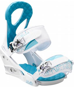 Burton Stiletto Snowboard Bindings White/Blue
