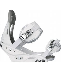 Burton Stiletto Snowboard Bindings White