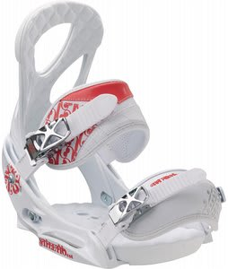 Burton Stiletto EST Snowboard Bindings White