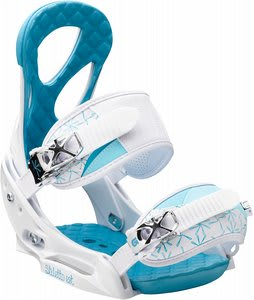 Burton Stiletto EST Snowboard Bindings White/Blue