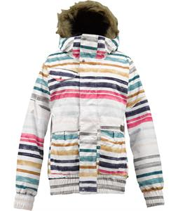 Burton Tabloid Snowboard Jacket Bright White Palette Stripe