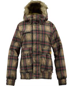 Burton Tabloid Snowboard Jacket Olive Radiant Plaid
