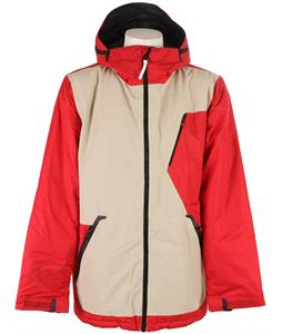 Burton Terminal Down Snowboard Jacket Code Red/Chino/True Black
