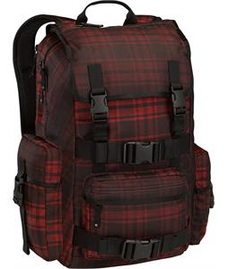 Burton The White Collection Backpack Cardinal Pocket Protector Plaid 30L