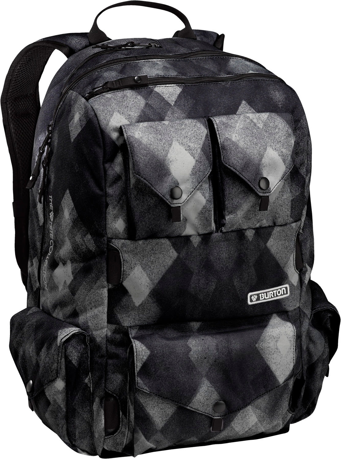 Burton The White Collection Backpack Diamond Watercolor