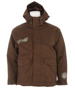 Burton Team Smalls Snowboard Jacket Roasted Brown