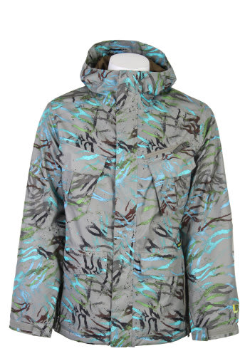 Burton Traction Snowboard Jacket Gmp Haze Fruity Tiger Print