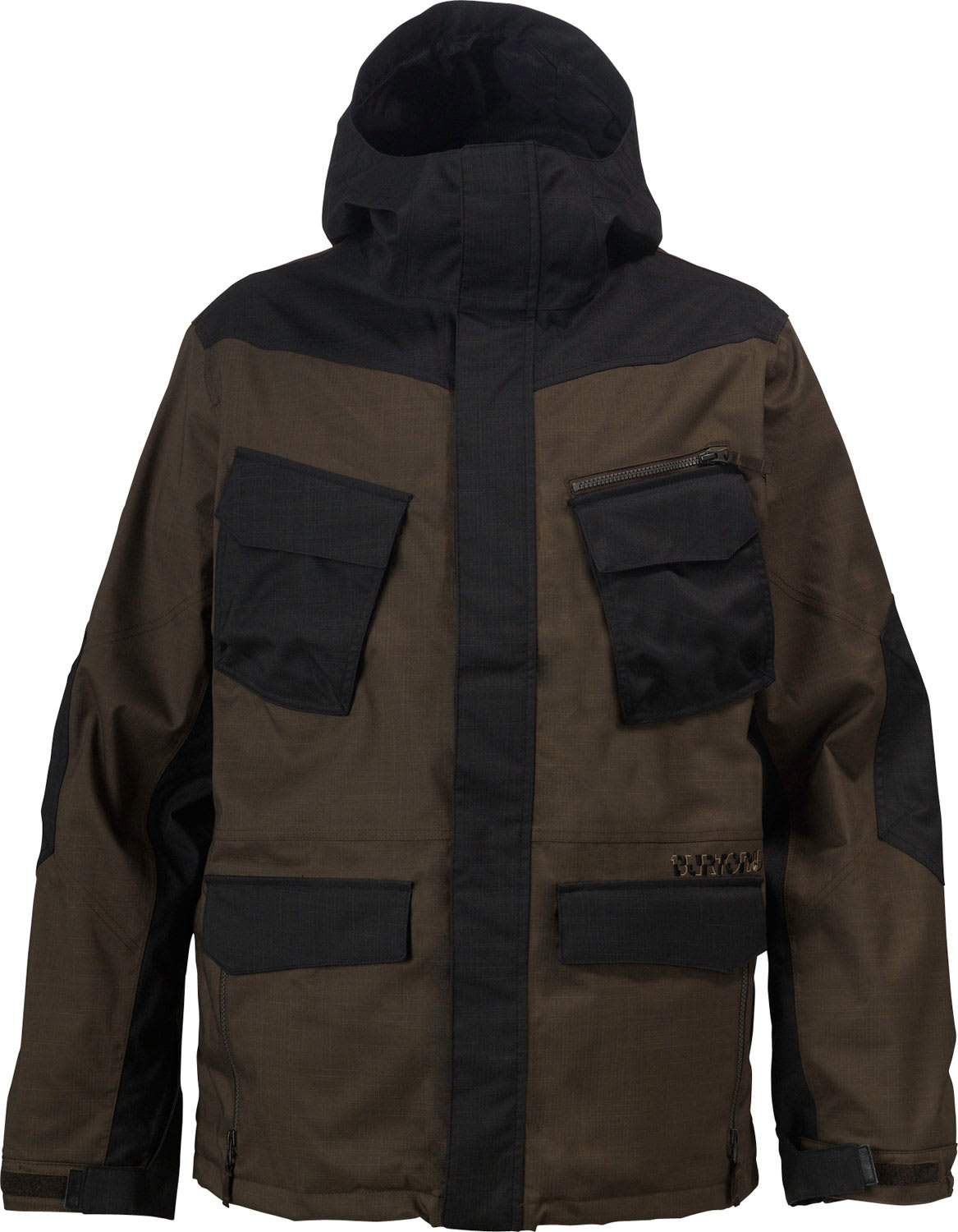 Shop for Burton Traction Snowboard Jacket Black/Havana - Men's
