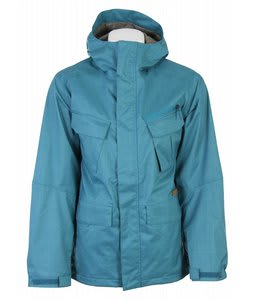Burton Traction Snowboard Jacket Blue Grass