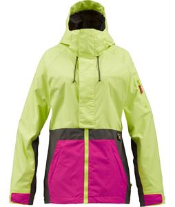 Burton Tula Snowboard Jacket Sunny Color Lime Colorblock