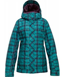 Burton TWC Baby Cakes Snowboard Jacket Siren Shift Plaid