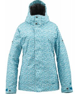 Burton TWC Fulltime Flirt Snowboard Jacket Bright White Distressed Gingham