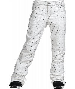 Burton TWC Flared Snowboard Pants Bright White Dot Print