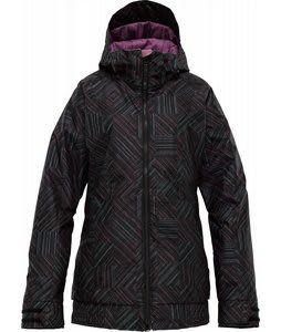 Burton TWC Hot Tottie Jacket True Black Ghost Check Print