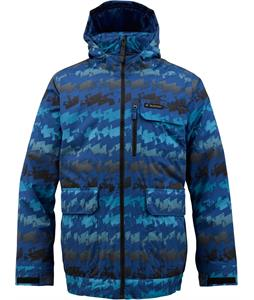 Burton TWC Prizefighter Snowboard Jacket Royals Geostress Print