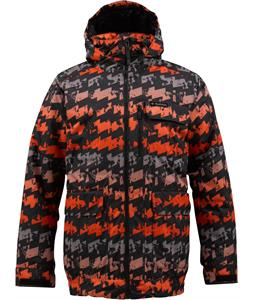Burton TWC Prizefighter Snowboard Jacket True Black Geostress Print