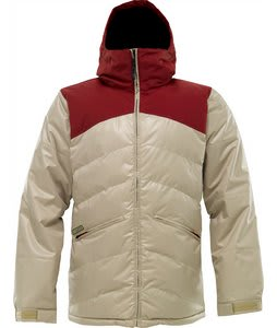 Burton TWC Puffaluffagus Snowboard Jacket Biking Red/Grayeen