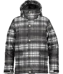 Burton TWC Shackleton Snowboard Jacket True Black Pocket Protector Plaid