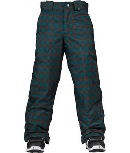 Burton TWC Smuggler Snow Pants Storm Kingdom Plaid Print