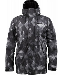 Burton TWC Throttle Snowboard Jacket True Black Diamond Watercolor Print