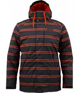 Burton TWC Throttle Snowboard Jacket True Black Dread Stripe