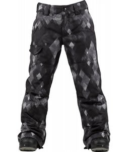 Burton TWC Throttle Snowboard Pants True Black Diamond Watercolor Print