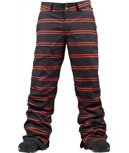 Burton TWC Throttle Snowboard Pants True Black Dread Stripe