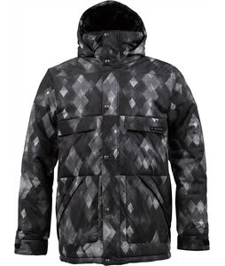 Burton TWC Warm And Friendly Snowboard Jacket True Black Diamond Watercolor Print