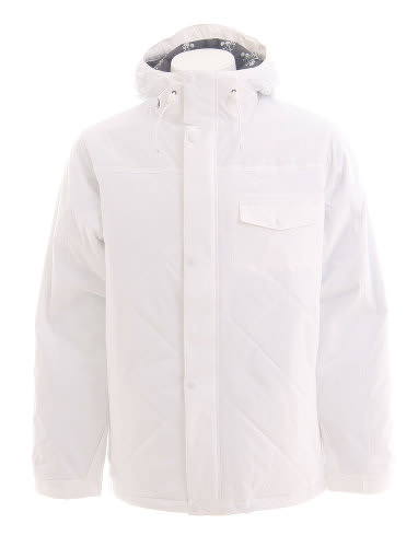 Burton Bad Moon Rising Snowboard Jacket Bright White
