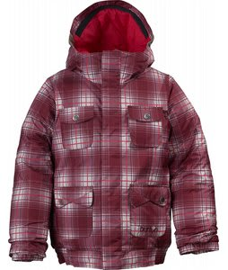 Burton Twist Bomber Snowboard Jacket Bright White Blur Plaid Print