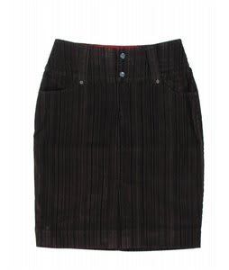 Burton Vanderbilt Skirt Flocked Pinstripe