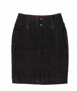 Burton Vanderbilt Skirt Flocked Pinstripe