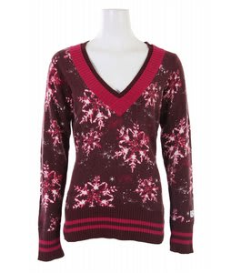 Burton Traffic V-Neck Sweater Sassafras Snowflake Print