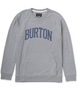 Burton Warm Up Crew Sweatshirt Heather Pewter