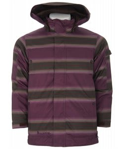 Burton The White Collection Cosmic Delight Snowboard Jacket Mocha Faded Stripe