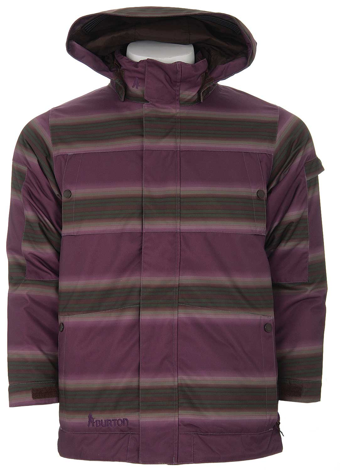 Shop for Burton The White Collection Cosmic Delight Snowboard Jacket Mocha Faded Stripe - Kid's