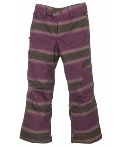 Burton The White Collection Cosmic Delight Snowboard Pants Mocha Faded Stripe
