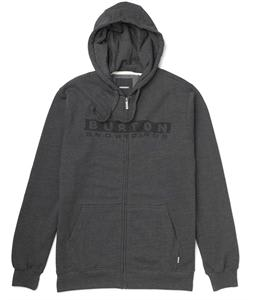 Burton Welcome Home Full Zip Hoodie Heather True Black